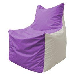 Кресло-мешок Фокс Ф 21-113 (сиреневый - белый)