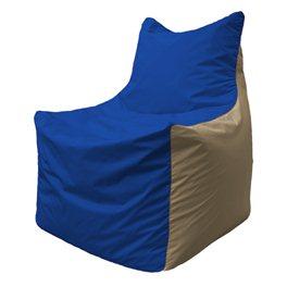 Кресло-мешок Фокс Ф 21-114 (василёк - тёмно-бежевый)