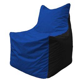 Кресло-мешок Фокс Ф 21-115 (василёк - чёрный)