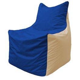 Кресло-мешок Фокс Ф 21-121  (василёк - светло-бежевый)