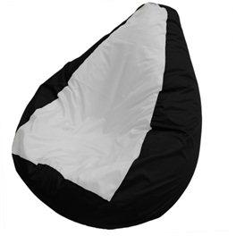 Кресло-мешок Груша черно-белое