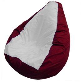Кресло-мешок Груша Макси бело-бордовое