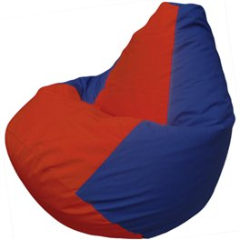 Кресло-мешок Груша Макси красно-синее