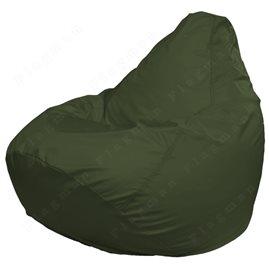 Кресло-мешок Груша Макси темно-оливковое