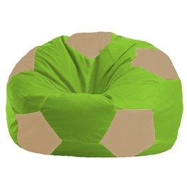 Кресло-мешок Мяч салатово - светло-бежевое 1.1-162