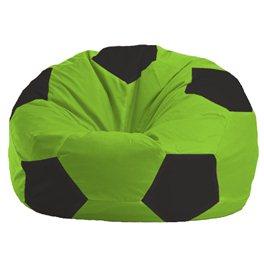Кресло-мешок Мяч салатово - чёрное 1.1-153