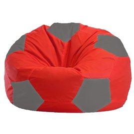 Бескаркасное кресло-мешок Мяч красно - светло-серое 1.1-173