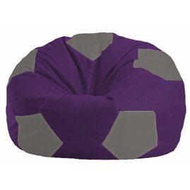 Кресло-мешок Мяч фиолетовый - серый М 1.1-72
