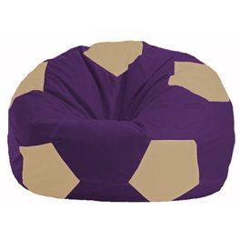 Кресло-мешок Мяч фиолетовый - светло-бежевый М 1.1-73
