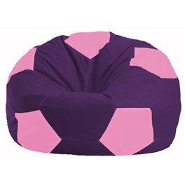 Кресло-мешок Мяч фиолетовый - розовый М 1.1-32