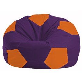 Кресло-мешок Мяч фиолетовый - оранжевый М 1.1-33
