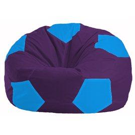 Кресло-мешок Мяч фиолетовый - голубой М 1.1-74