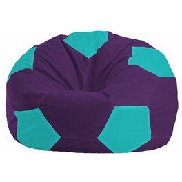 Кресло-мешок Мяч фиолетовый - бирюзовый М 1.1-75