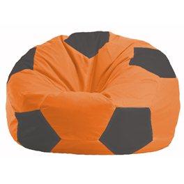 Кресло-мешок Мяч оранжевый - тёмно-серый М 1.1-210
