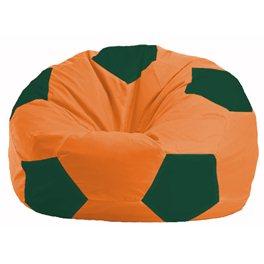 Кресло-мешок Мяч оранжевый - тёмно-зелёный М 1.1-212