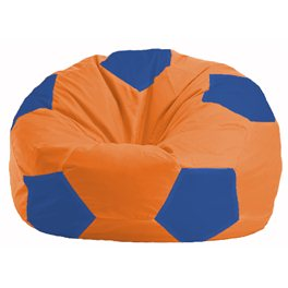 Кресло-мешок Мяч оранжевый - синий М 1.1-213