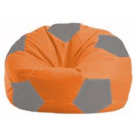 Кресло-мешок Мяч оранжевый - серый М 1.1-214