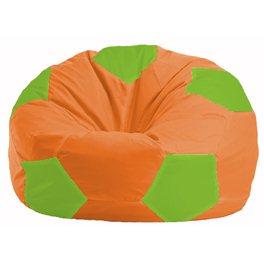 Кресло-мешок Мяч оранжевый - салатовый М 1.1-215