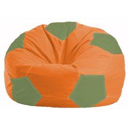 Кресло-мешок Мяч оранжевый - оливковый М 1.1-216