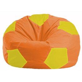 Кресло-мешок Мяч оранжевый - жёлтый М 1.1-219