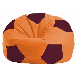 Кресло-мешок Мяч оранжевый - бордовый М 1.1-222