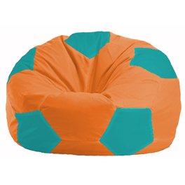Кресло-мешок Мяч оранжевый - бирюзовый М 1.1-223