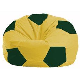 Кресло-мешок Мяч жёлтый - тёмно-зелёный М 1.1-452