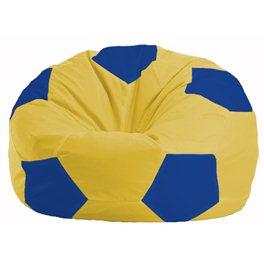 Кресло-мешок Мяч жёлтый - синий М 1.1-254