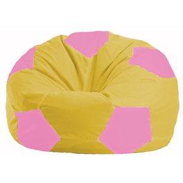 Кресло-мешок Мяч жёлтый - розовый М 1.1-257
