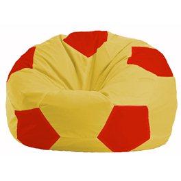 Кресло-мешок Мяч жёлтый - красный М 1.1-260