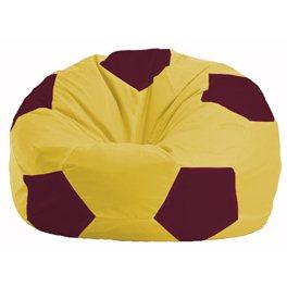 Кресло-мешок Мяч жёлтый - бордовый М 1.1-265