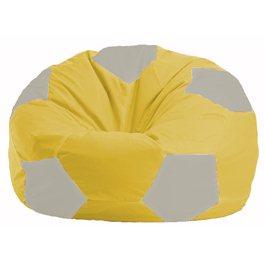 Кресло-мешок Мяч жёлтый - белый М 1.1-266