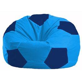 Кресло-мешок Мяч голубой - тёмно-синий М 1.1-272