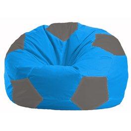 Кресло-мешок Мяч голубой - тёмно-серый М 1.1-270