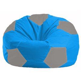 Кресло-мешок Мяч голубой - серый М 1.1-274
