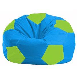 Кресло-мешок Мяч голубой - салатовый М 1.1-276