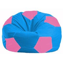 Кресло-мешок Мяч голубой - розовый М 1.1-277