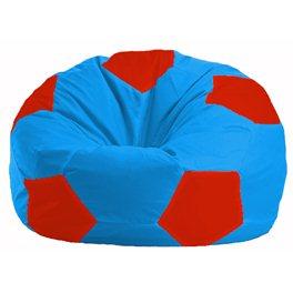 Кресло-мешок Мяч голубой - красный М 1.1-279