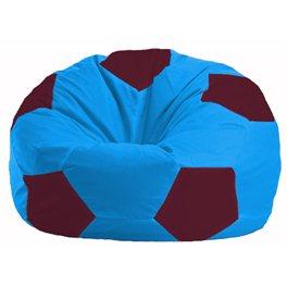 Кресло-мешок Мяч голубой - бордовый М 1.1-281