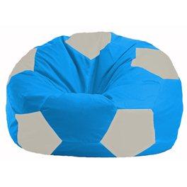 Кресло-мешок Мяч голубой - белый М 1.1-282