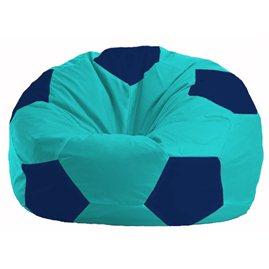 Кресло-мешок Мяч бирюзовый - тёмно-синий М 1.1-286
