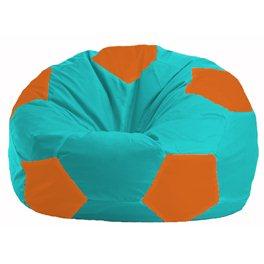 Кресло-мешок Мяч бирюзовый - оранжевый М 1.1-296