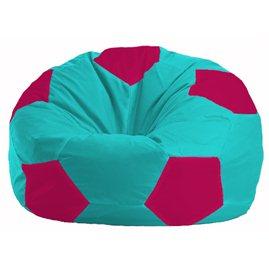 Кресло-мешок Мяч бирюзовый - малиновый М 1.1-284