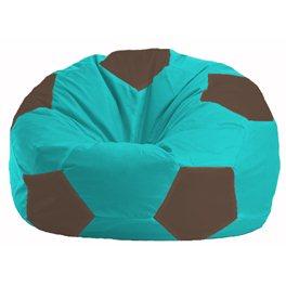 Кресло-мешок Мяч бирюзовый - коричневый М 1.1-298