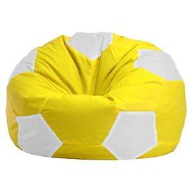 """Кресло-мешок """"Мяч Стандарт"""" желто-белое"""
