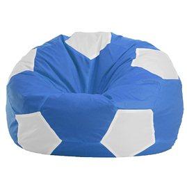 """Кресло-мешок """"Мяч Стандарт"""" сине-белое"""