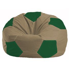 Кресло-мешок Мяч бежевый - зелёный М 1.1-94