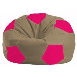 Кресло-мешок Мяч бежевый - малиновый М 1.1-178