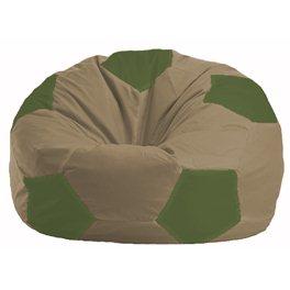 Кресло-мешок Мяч бежевый - оливковый М 1.1-91