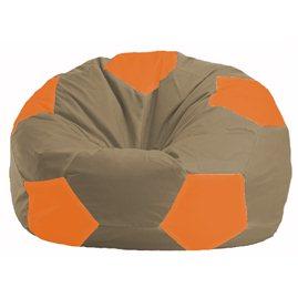 Кресло-мешок Мяч бежевый - оранжевый М 1.1-90